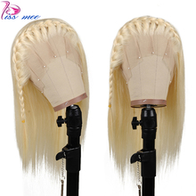 Kissmee Blonde Lace Front Human Hair Wigs Honey Glueless Straight For Black Women Remy Malaysian 13*4 613