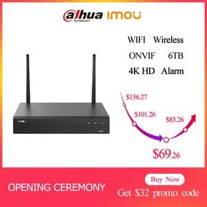 Dahua Imou CCTV NVR WIFI Surveillance ONVIF 1080P enregistreur vidéo réseau ip-cam Hdmi-sécurité-système 8CH sans fil AI intelligent H.265