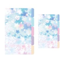 1Set Cherry Blossoms Style A5 A6 Loose Leaf Notebook Divider Index Separator Diary Paper Planner Binders School Students