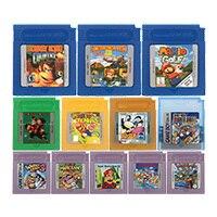 16 битная картридж для видеоигр, картридж для консоли, серия Мари/донке Конг, версия на английском языке для Nintendo GBC