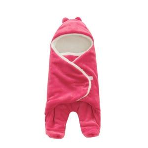 Image 2 - Túi Ngủ cho bé 68*80cm Nỉ mặc Túi Ngủ Cho Bé Mùa Đông Footmuff Saco Bebe Cochecito Dormir Sắc De couchage Enfant