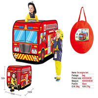 Children Baby Indoor Fire Truck Tent Game House Play House Foldable Outdoor Toy Boys And Girls Gift