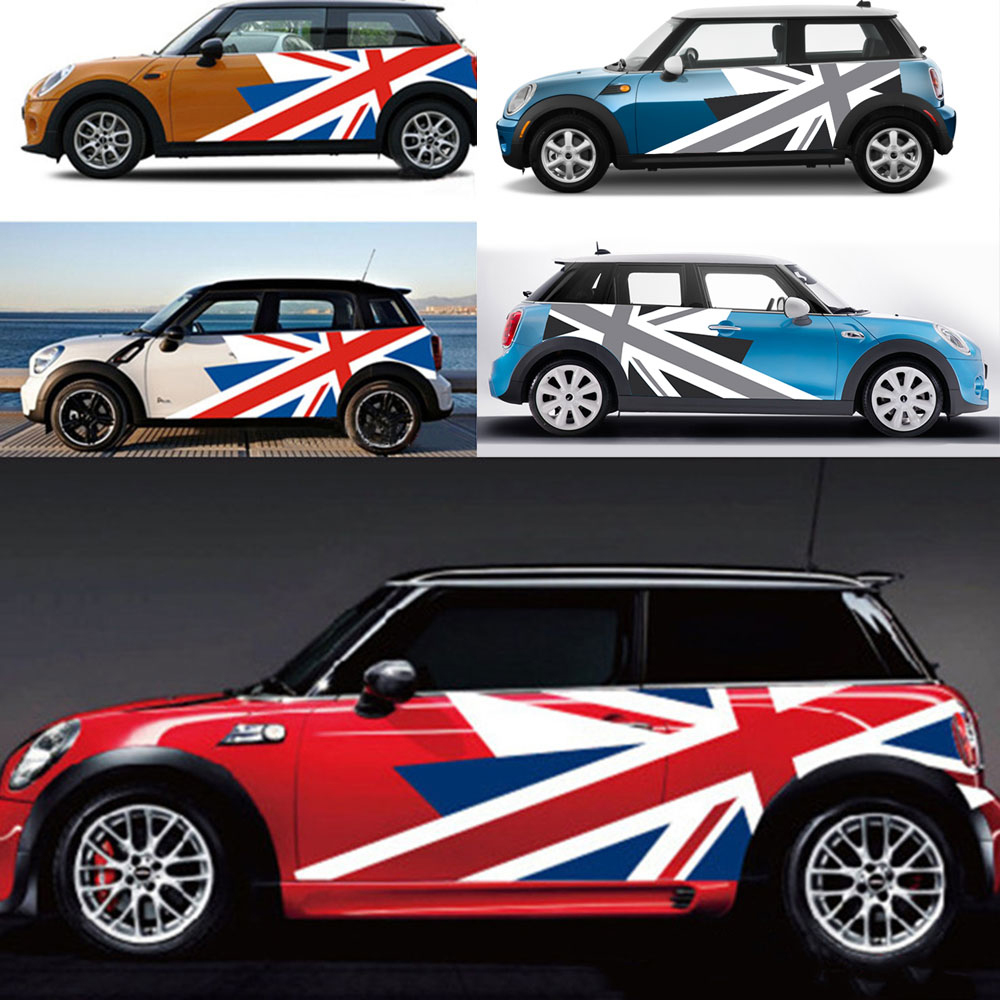 Rubber Car Rear Bumper Protection Trim Rear Guard Plate Protector Union Jack Flag Sticker for BMW Mini Cooper R56 Clubman R55 Accessories