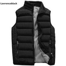 Жилет Для мужчин стильный осень теплая куртка без рукавов Для мужчин зимний жилет Для мужчин жилет Модные Повседневные Пальто Для мужчин s Plus размеры 1960