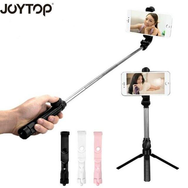 Universel sans fil Bluetooth Selfie bâton Mini pliable téléphone trépied extensible manipulé monopode pour téléphone portable Selfie bâton