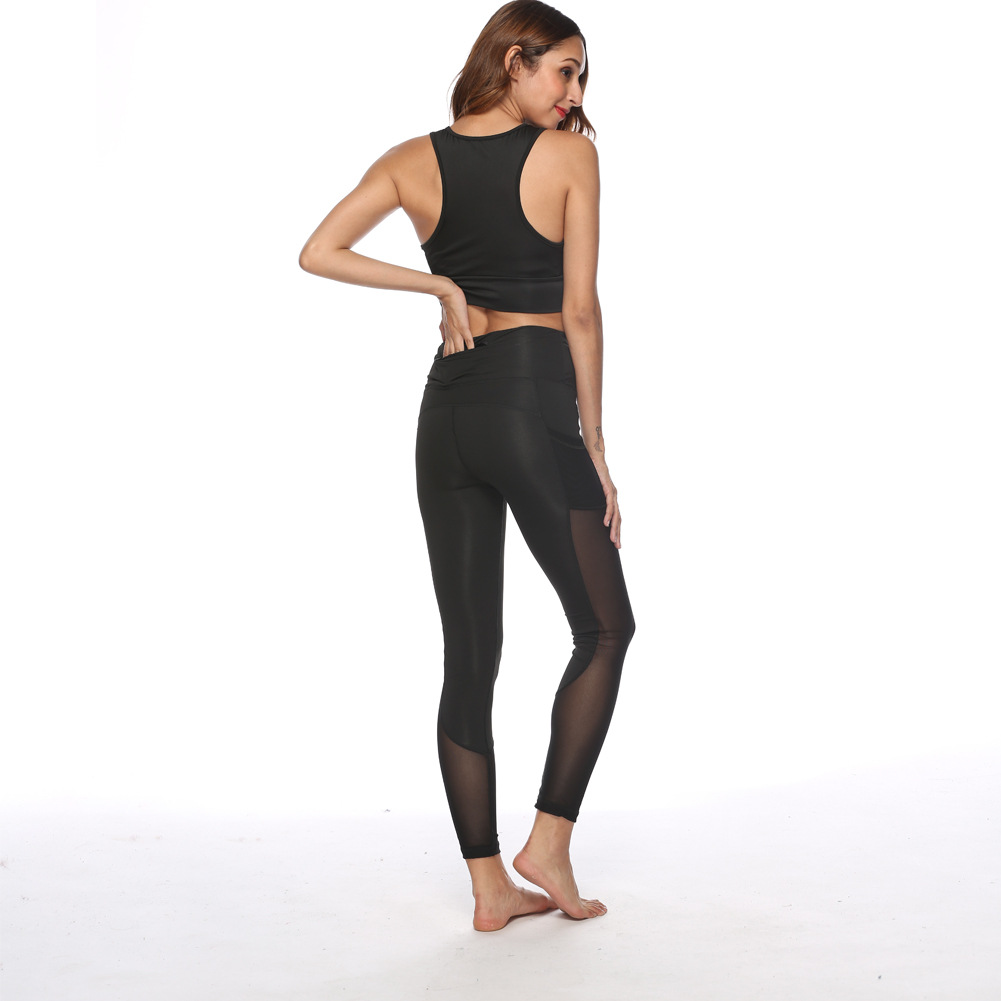 New Style Fashion Buttock Lifting Yoga Fitness Trousers Gauze Joint Wicking Running Only Athletic Pants