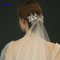 Crystal Hairgrips Full Dress Ornaments New Arrival Hair Jewelry Bridal Wedding Hair Combs Silver Hair Band Photography Decorate