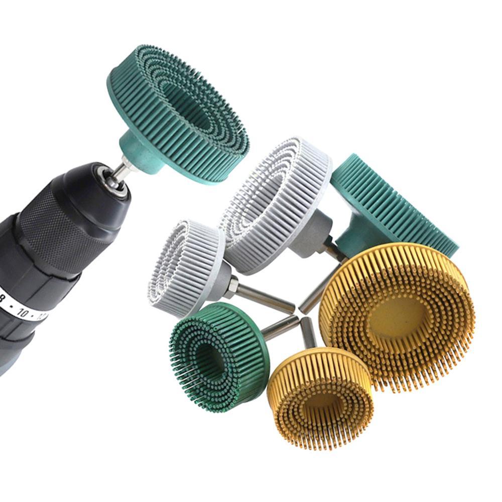 Electric Drill Disc Brush Emery Rubber Abrasive Deburring Polishing Brush Tool Polishing Paste