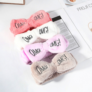 2020 New Letter OMG Wash Face Bow Hair Accessories Cute Soft For Women Girls Headbands Hair Bands Headwear Turban Dropshipping