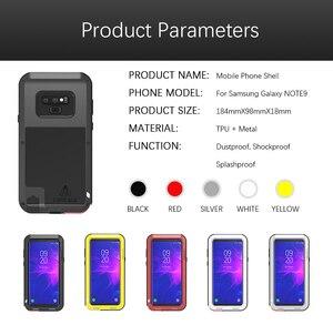 Image 5 - Caso Per Samsung Galaxy Note 8 9 3 AMORE MEI Potente Metallo Armatura Antiurto In Alluminio della Cassa Del Telefono Per Samsung Note 9 4/bordo/FE