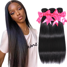 28 30 Inch Brazilian Straight Hair Bundles 100% Human Hair Extension Natural Color 1/3/4 Bundles Straight Hair Weaves