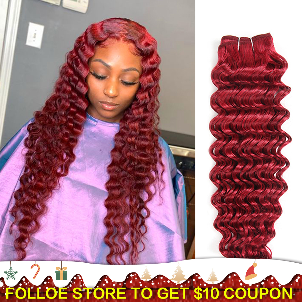 Joedir Pre-Colored Deep Wave Brazilian Hair 100% Human Hair Bundles Remy Hair Weave Ombre Color Pink Blue Purple Free Shipping