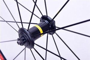 Image 3 - 700C Cosmic Elite כביש אופני אופניים Ultralight אלומיניום סגסוגת V בלם גלגלים 40mm חישוקים