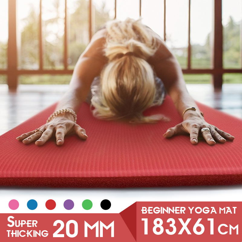 1830*610*20mm Thickess Non-Slip Yoga Mat Sport Gym Soft Pilates Mats Foldable For Body Building Fitness Exercises Equipment DIY