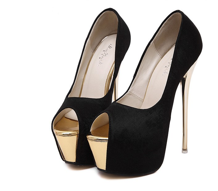 Woman <font><b>Sexy</b></font> Stilettos Open Toe <font><b>Extreme</b></font> 16CM <font><b>High</b></font> <font><b>Heels</b></font> Platform Pumps Shallow Mouth Wedding Women Bridal <font><b>Fetish</b></font> Summer <font><b>Shoes</b></font> image