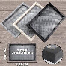 Große Größe Display Fall/Box Staubdicht Bord 32*48 Punkte Basis Platte DIY Bausteine Teile Kompatibel Figuren kinder Spielzeug