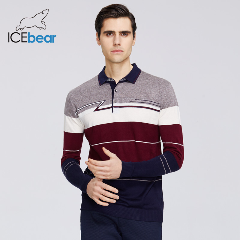 ICEbear 2020 New Men's Spring Sweater Casual Lapel Sweater Business Casual Quality Men's Clothing 1812