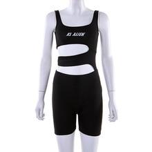 Женская сексуальная мягкая спортивная одежда с буквенным принтом спортивный костюм Холтер Одежда для гимнастики