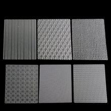 Treliça textura transparente esteira saco de artesanato açúcar tarja bolo molde borda decoração ferramentas impressão morrer 6 pçs