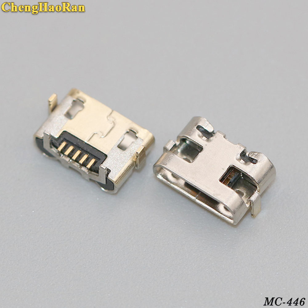 ChengHaoRan 100pcs Micro USB Jack Connector For Huawei Y5 II CUN-L01/ For Amazon Kindle Fire 5th Gen SV98LN USB Socket Port