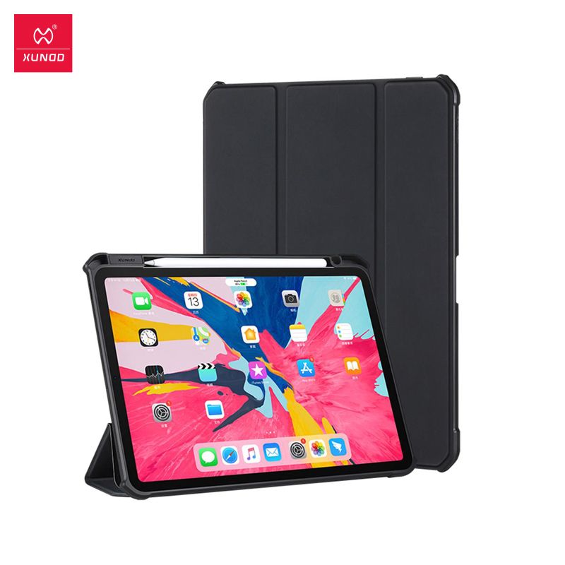 Xundd Protective Tablet Case For IPad Pro 11 Case Leather Airbag Bumper Shockproof Case Leather Smart Cover Trifold Stand