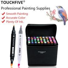TOUCHFIVE 30/40/60/80/108/168 Colors Standard Markers Dual Tip Art Marker Pens Fine Liner Markers