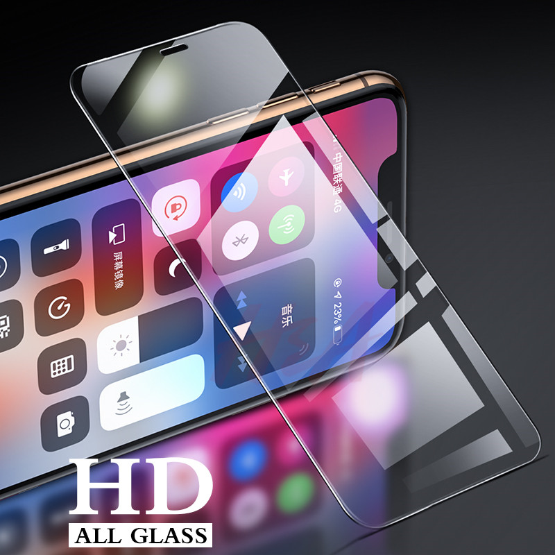 Image 2 - 3Pcs Protective Glass On The For iPhone X Xr XS Max Tempered Screen Protector for iPhone 7 8 Plus 6 6s Plus 5 5s se Glass Film-in Phone Screen Protectors from Cellphones & Telecommunications