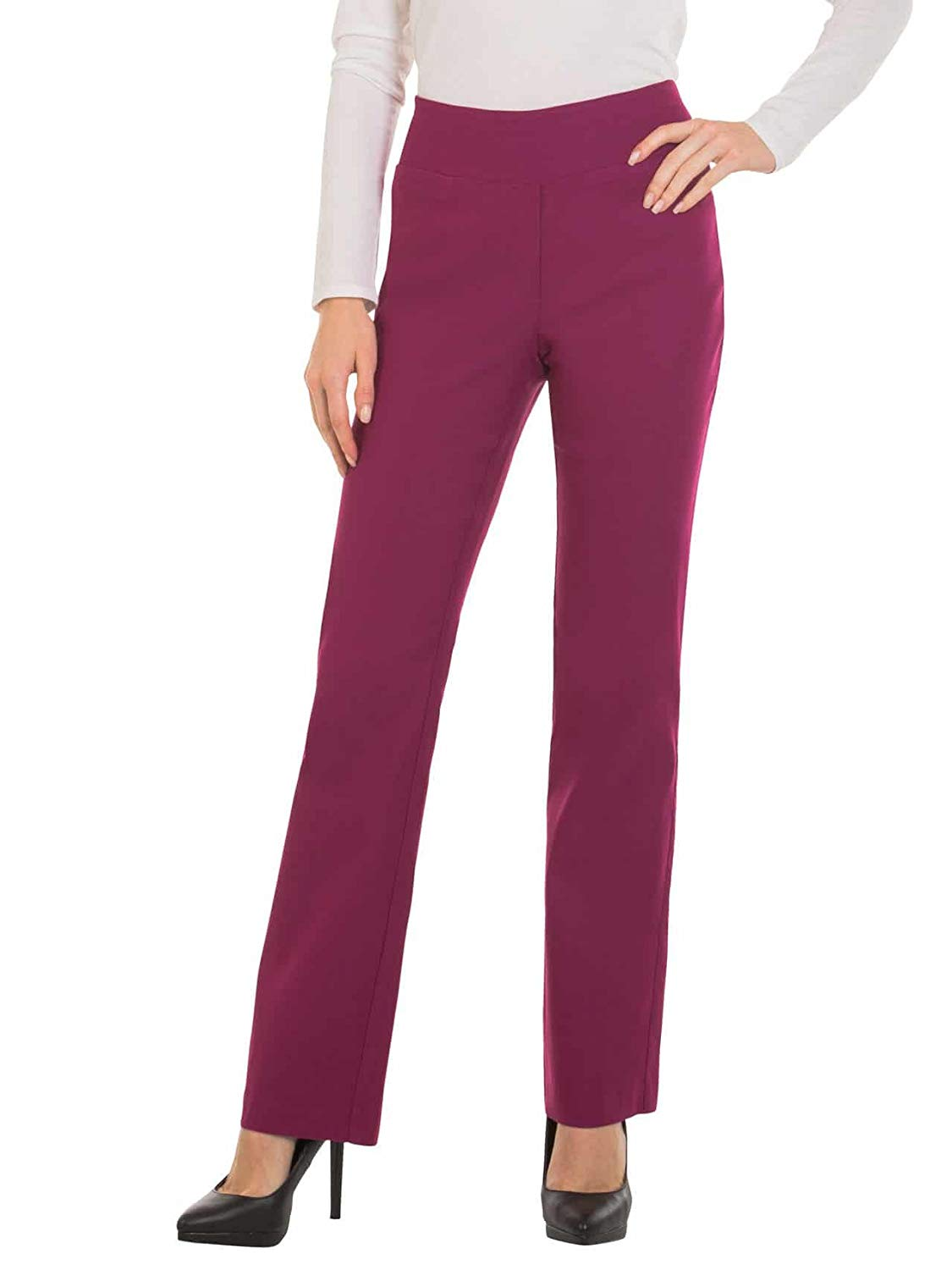 20 Pieces Bootcut Dress Pants For Women -Stretch Comfy Work Pull On Womens Pant2019