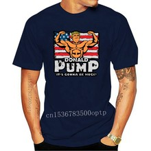 Donald Pump Color T-Shirts Knitted Cotton Basic Solid Classic Men Tshirt High Quality Novelty Branded Tee Shirt Summer
