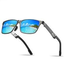 Солнцезащитные очки унисекс квадратные винтажные поляризационные