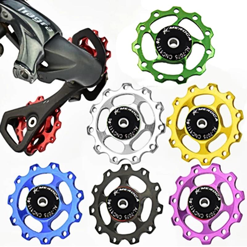 11T MTB Aluminium Jockey Wheel Bicycle Bike Rear Derailleur Pulley Guide Bearing