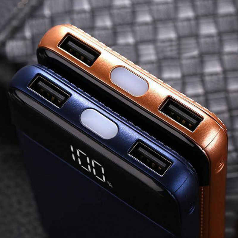 Banco de energía de 30000mah batería externa PoverBank 2 USB LCD cargador de teléfono móvil portátil para Xiaomi MI iphone XS Max 7 8