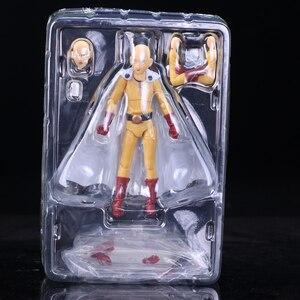 Image 5 - Saitama figura de acción de One Punch Man Saitama Figma 310, juguete de modelos coleccionables, regalo de cumpleaños, 14cm, PVC
