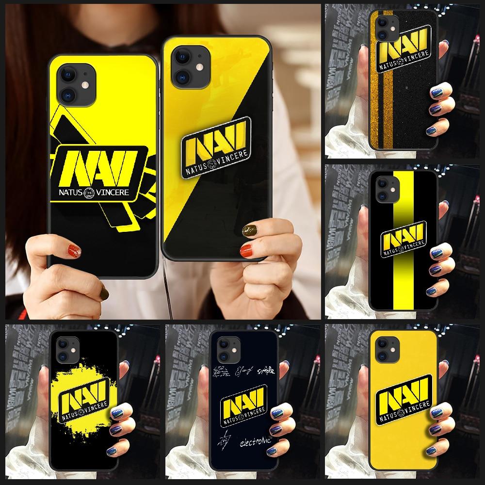Cs go natus vincere navi logo Phone Case Cover Hull For iphone 5 5s se 2 6 6s 7 8 plus X XS XR 11 PRO MAX black Etui silicone