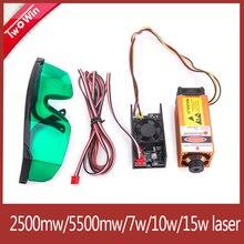 15W Laser Module 450nm Adjusted Focus Blue-Violet Lase Head For Laser Engraver DIY Engraving Machine Woodworking Machinery Parts