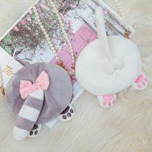 Кошелек с жемчужинами на молнии для девушек милая овальная мини