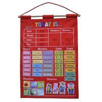 Juguetes de madera Montessori para bebés, Calendario, Reloj, tiempo cognitivo, enseñanza educativa, ayuda, juguetes para niños