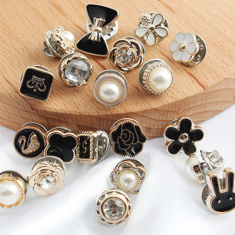 Free Shipping Cute Anti-glare Buckle Mini Brooch Collar Pin Fixed Clothes Buckle Pin , Lithops