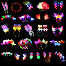Headband Headdress-Head Luminous Led-Light Party-Decor Flashing Glow Birthday Christmas