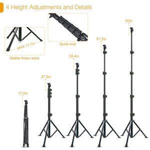 Image 4 - Cell Phone Selfie Stick Travel Tripod Stand for Mobile Phones iPhone iPAD HUAWEI Xiaomi Redmi Tablets wireless Bluetooth Portabl