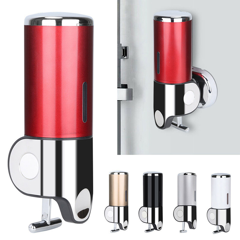 Liquid Soap Dispenser Wall Mounted 500ml Plastic Shampoo Shower 