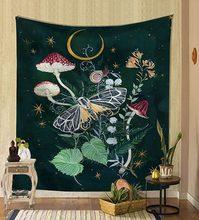 Fondo de tela colgante psicodélica nórdica revestimiento de paredes decoración del hogar manta de pared tapiz pared del dormitorio colgante 95*73cm