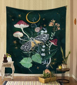 Nordic psychedelic hanging fabric background wall covering home decoration wall blanket tapestry bedroom wall hanging 95*73cm