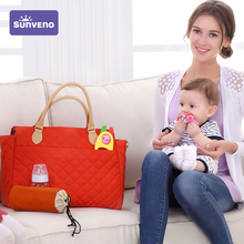 Diaper-Bag Mammy SUNVENO QUILTED Tote Baby Multicolor Fashion Women for Argyle-Checked