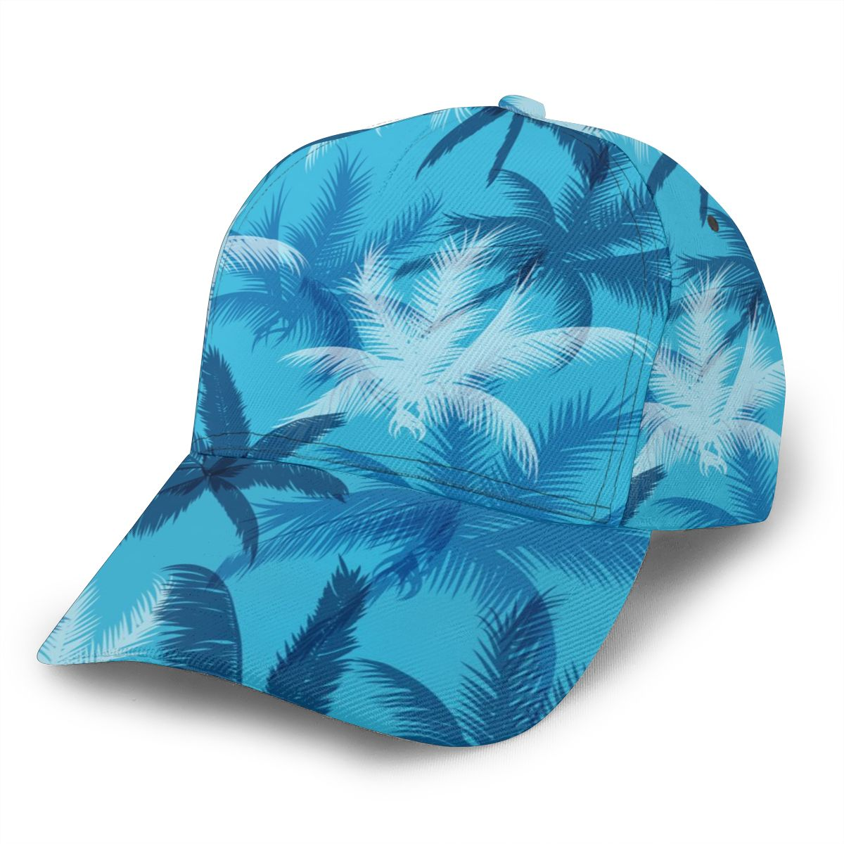 Tropical Palm Leaves Blue Baseball Cap women men snapback caps Classic Style hat Casual Sport Outdoor cap