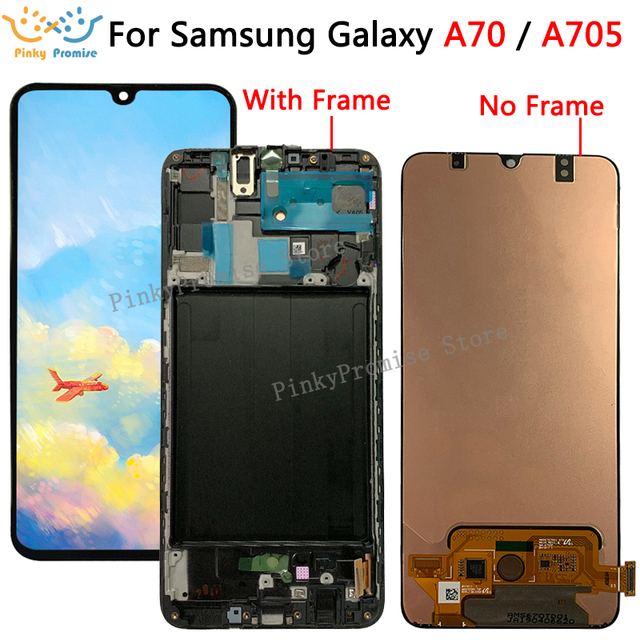 6.7 For Samsung Galaxy A70 LCD A705 A705F SM A705F Display Touch Screen Digitizer Assembly A70 2019 For SAMSUNG A70 LCD A705DS