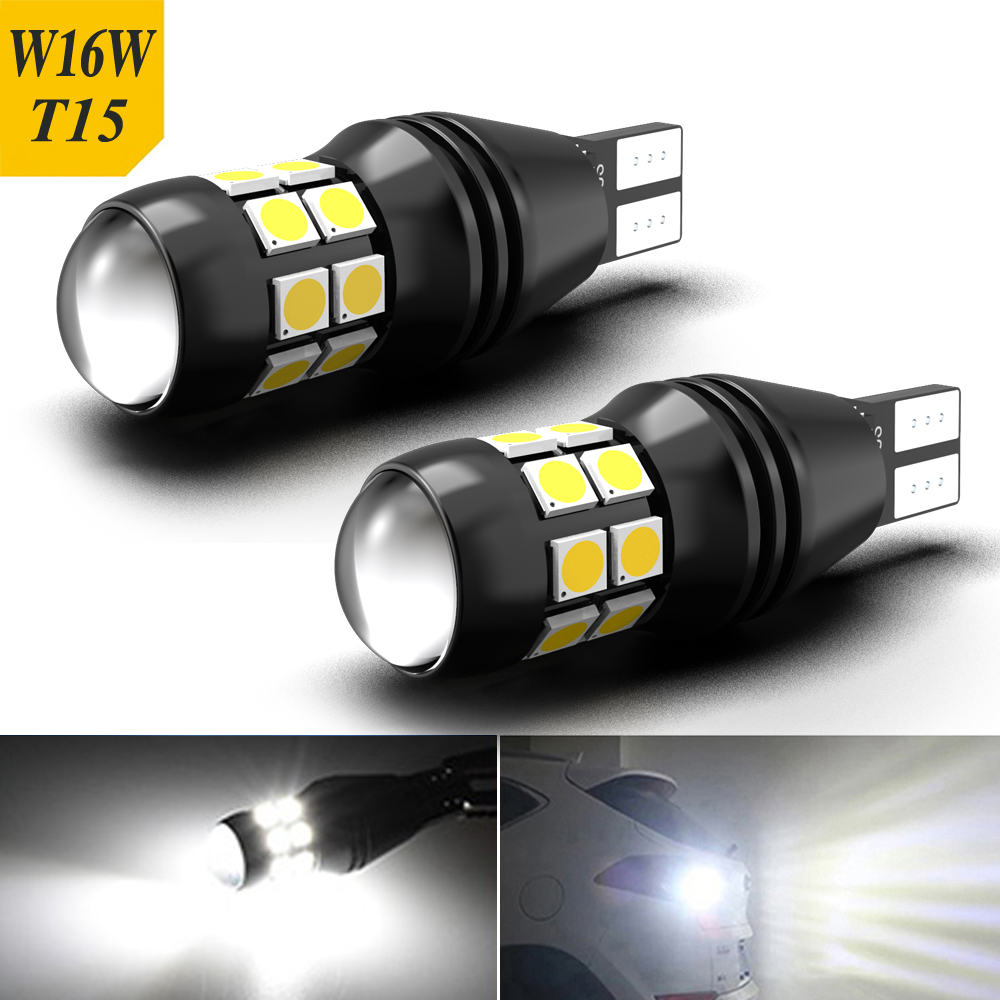 2x T15 W16W LED Canbus ampoules 920 921 20SMD 3030 blanc 12V Led feu arrière de secours pour Ford Fiesta Fusion Focus Mazda 3 5 6000K