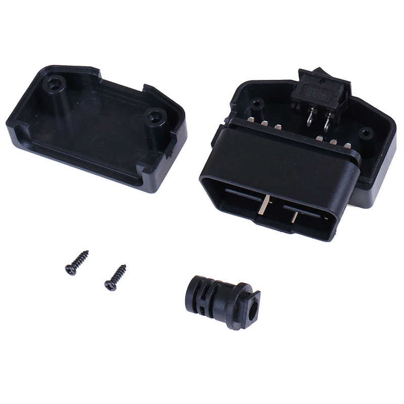 1 takım OBD II tipi 16 Pin erkek oto araba konektörü kablo tel soket konnektör fişi kabuk ve vida