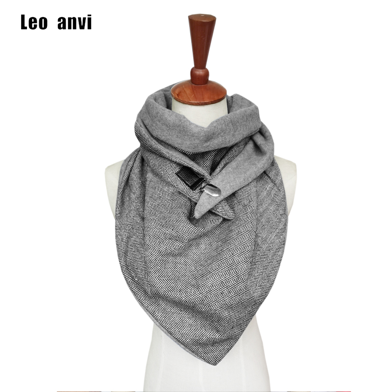 Leo Anvi Herringbone Paisley Printing Scarf Women Patchwork Button Soft Warm Shawls Wrap Casual Luxury Poncho Szaliki I Chusty