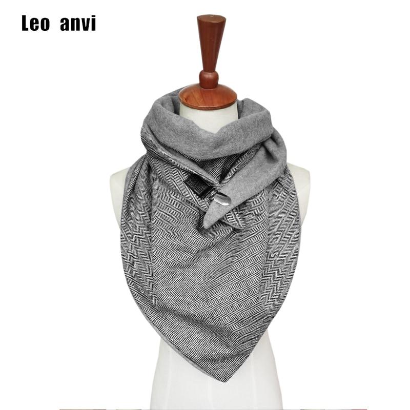 Leo Anvi Herringbone Paisley Printing Scarf Women Patchwork Button Soft Warm Shawls Wrap Casual Luxury Poncho Szaliki I Chusty